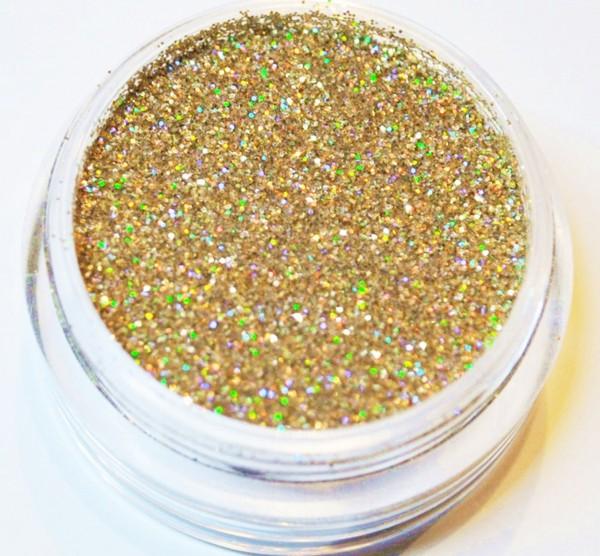 Puder Glitter gold hologram XXL Studio Größe
