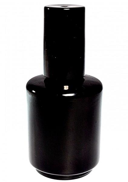 Nagellack leer Flasche aus Glas in schwarz 15ml