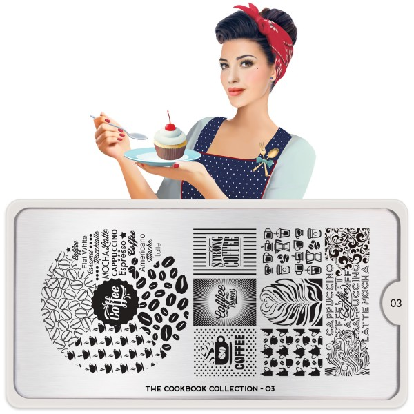 MoYou London Stamping Schablone Cook Book #03