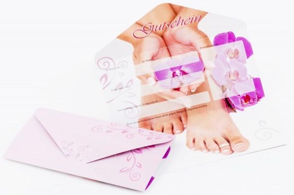 10 Geschenk Gutschein Karten #1 für Nagelstudios