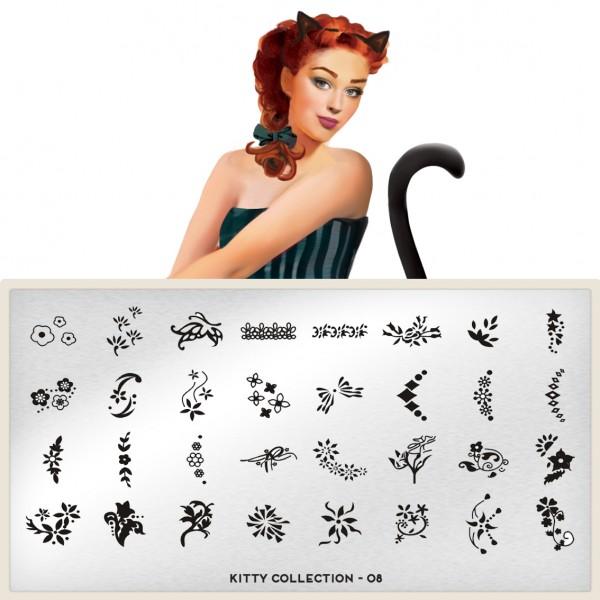 MoYou London Stempel Schablone Motiv:Kitty #08