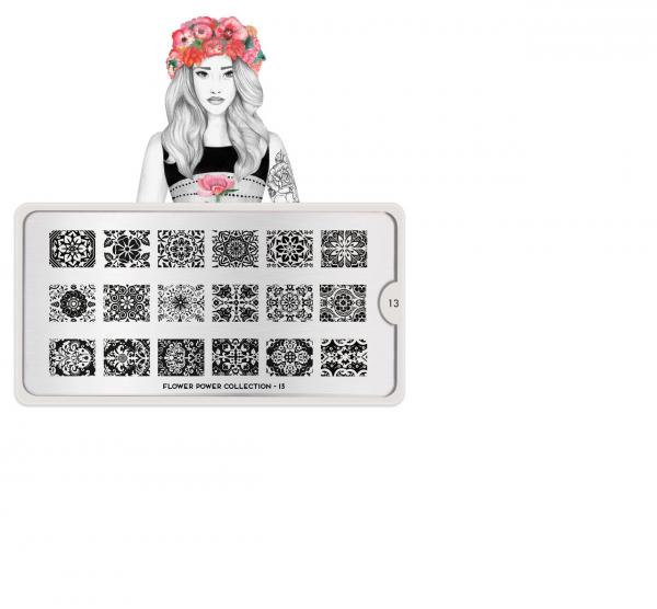 MoYou London Stempel Schablone Motiv: Flower Power 13