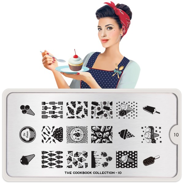 MoYou London Stempel Schablone Motiv:Cook Book #10