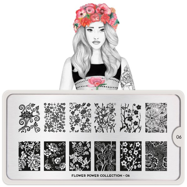MoYou London Stempel Schablone Motiv:Flower Power #06