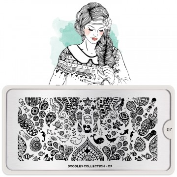 MoYou London Stamping Schablone Doodles #07