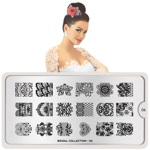 MoYou London Stamping Schablone Bridal #06