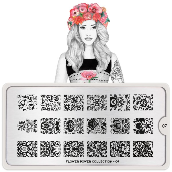 MoYou London Stempel Schablone Motiv:Flower Power #07