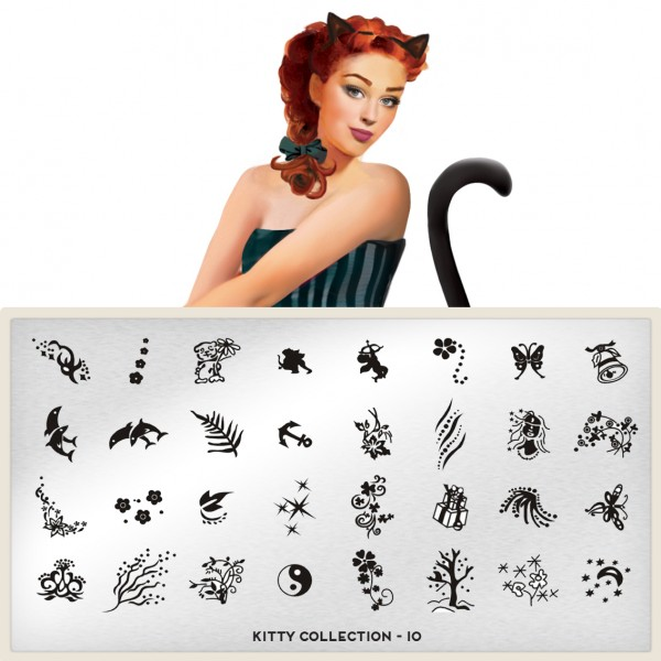 MoYou London Stempel Schablone Motiv:Kitty #10