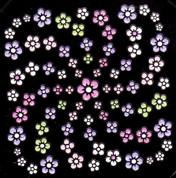 3D Blumensticker #28