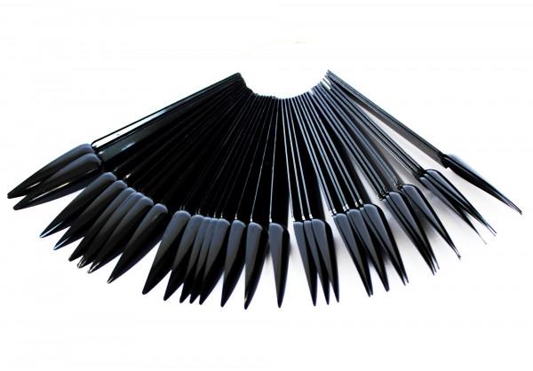 Präsentationsfächer Stiletto schwarz