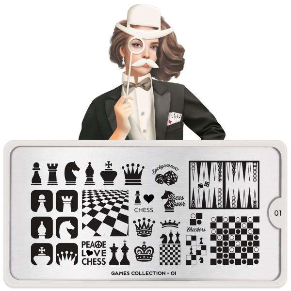 MoYou London Stempel Schablone Motiv:Games #1