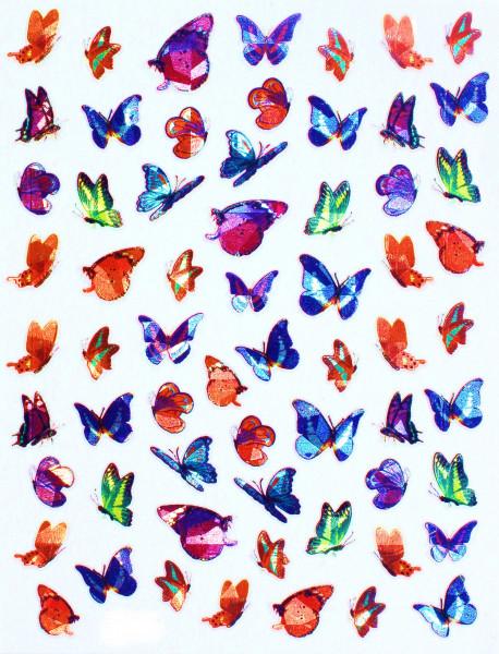Schmetterling Sticker Bunt schimmernd XL Bogen
