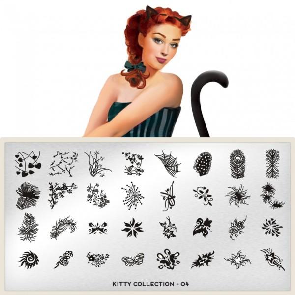 MoYou London Stempel Schablone Motiv:Kitty #04