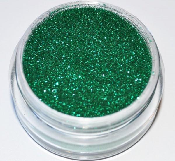 Puder Glitter grün 0,1mm fein Studio Größe