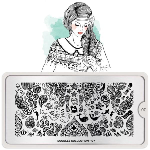 MoYou London Stempel Schablone Motiv:Doodles#06