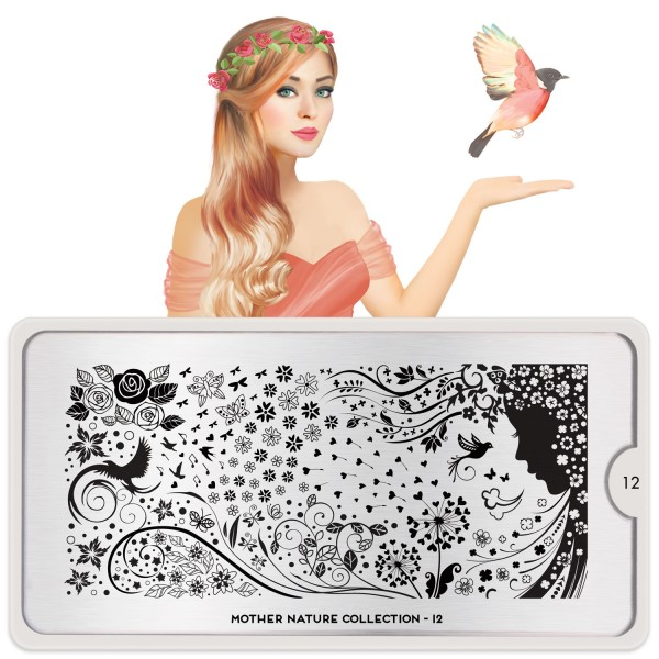 MoYou London Stamping Schablone Mother Nature #12