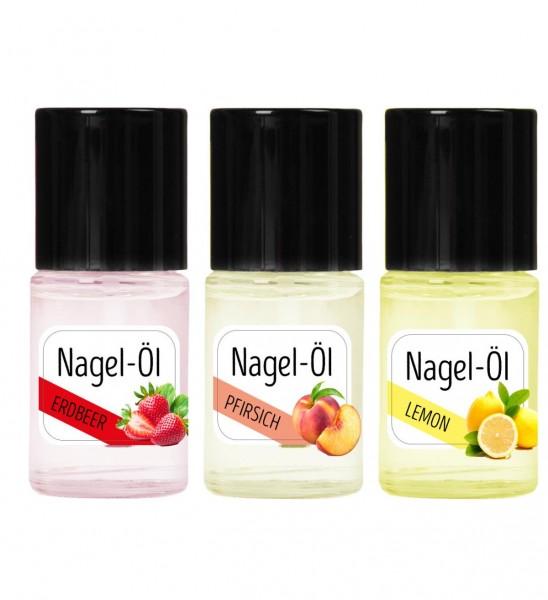 Nagelöl Set Erdbeer,Pfirsich und Lemon je 15ml