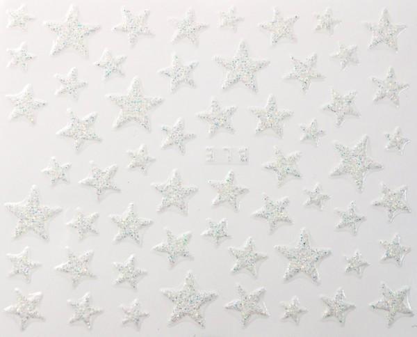 Weiße Glitter Sterne #105