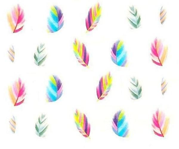 Sticker mit Bunten Federn