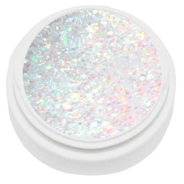 5ml Extrem Diamant Glitter Gel weiß irisierend