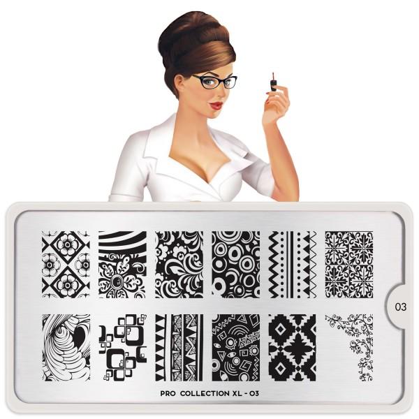 MoYou London Stamping Schablone Pro XL #03
