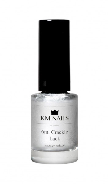 6ml Crackle Lack silber