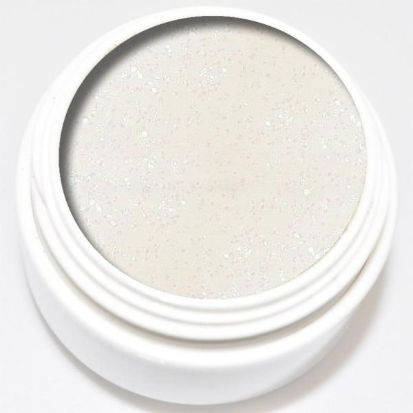 5 ml Diamant Glitter Gel weiß irisierend