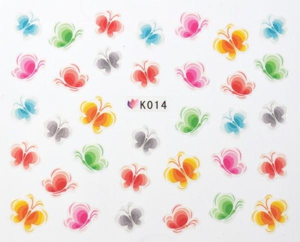 Bunte Schmetterling Sticker selbst klebend #77