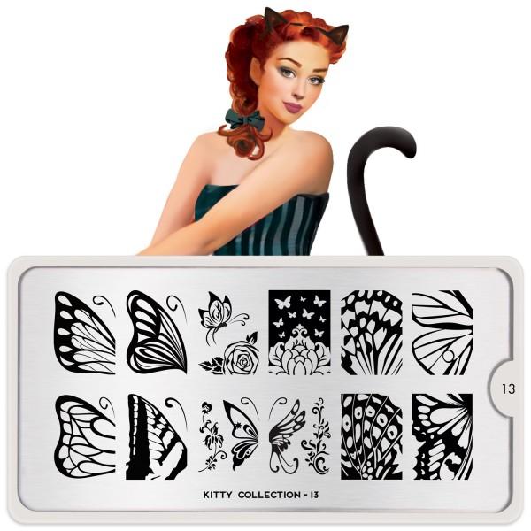 MoYou London Stempel Schablone Motiv:Kitty #13