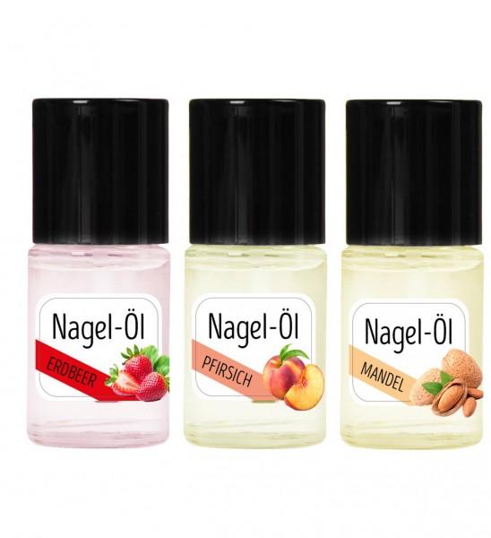Nagelöl Set Erdbeer,Pfirsich und Mandel je 15ml