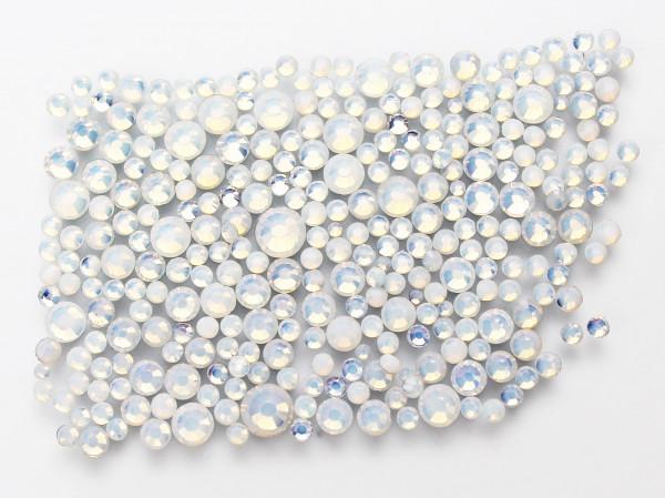 Straßsteine white Opal 6 Größen