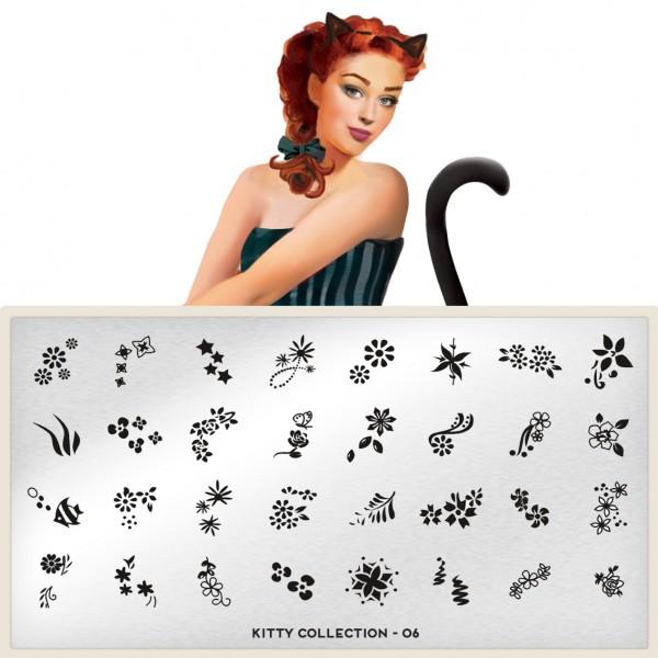 MoYou London Stempel Schablone Motiv:Kitty #06