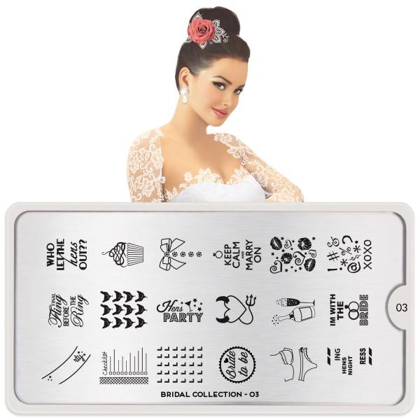 MoYou London Stempel Schablone Motiv:Bridal #03