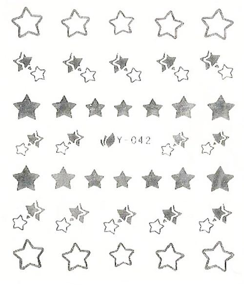 Silber Sterne Sticker metallic silber #45