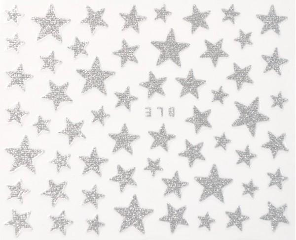 Silber Glitter Sterne #110